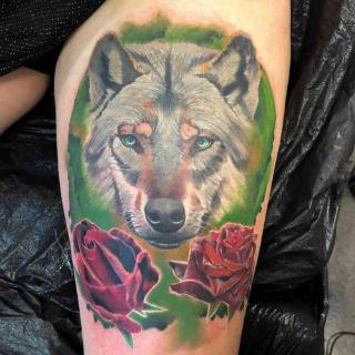 Wolf Tattoo - vom Tattoostudio